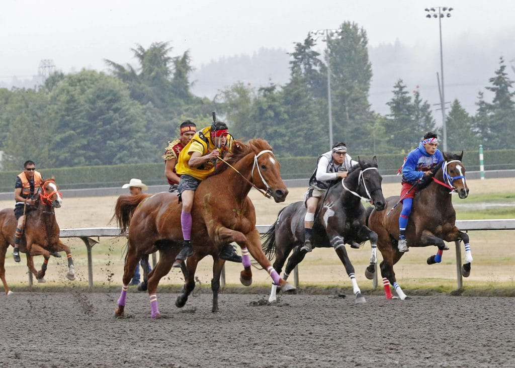 Indian Relay Races Day 1 Emerald Downs