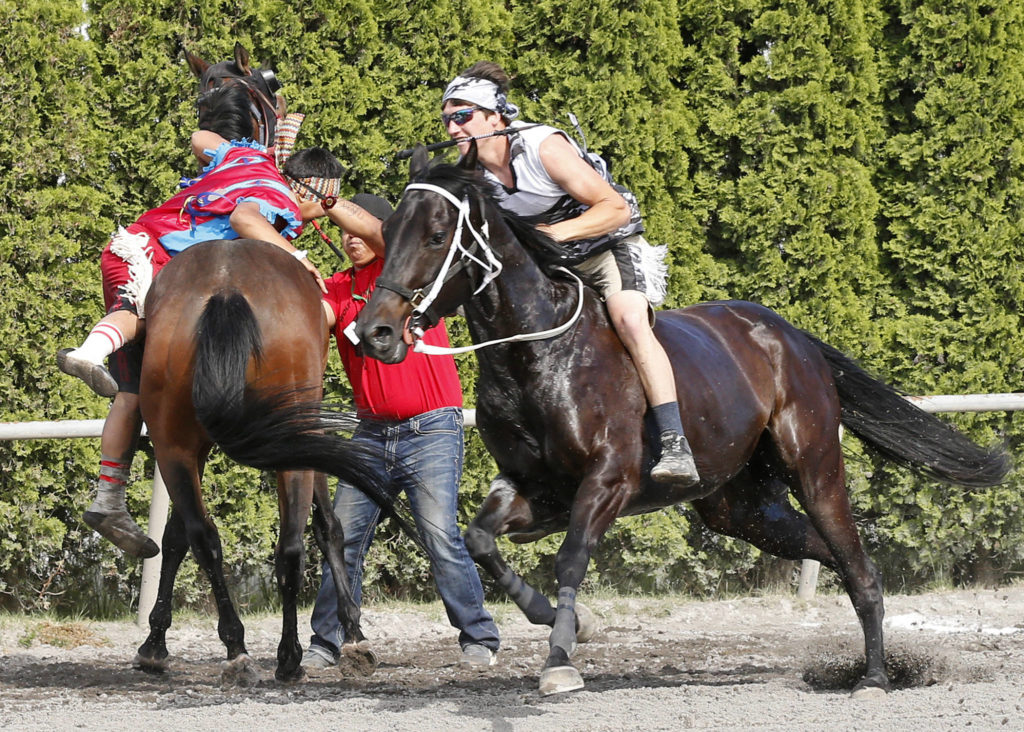 Indian Relay Racing Belmont Stakes Emerald Downs